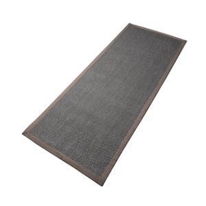 Bilde av Sisal teppe (80x200 - Antrasitt/brun kant)