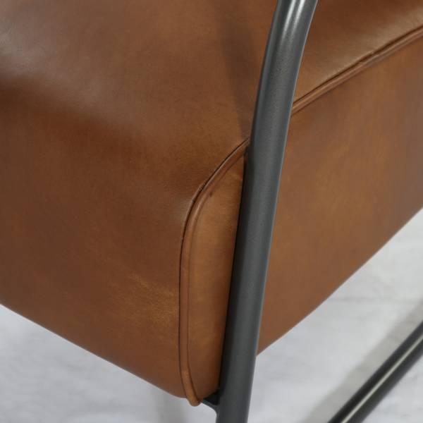 Icon lenestol skinn (Cognac Brown)